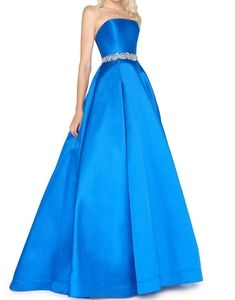 McDuggal bejeweled satin gown